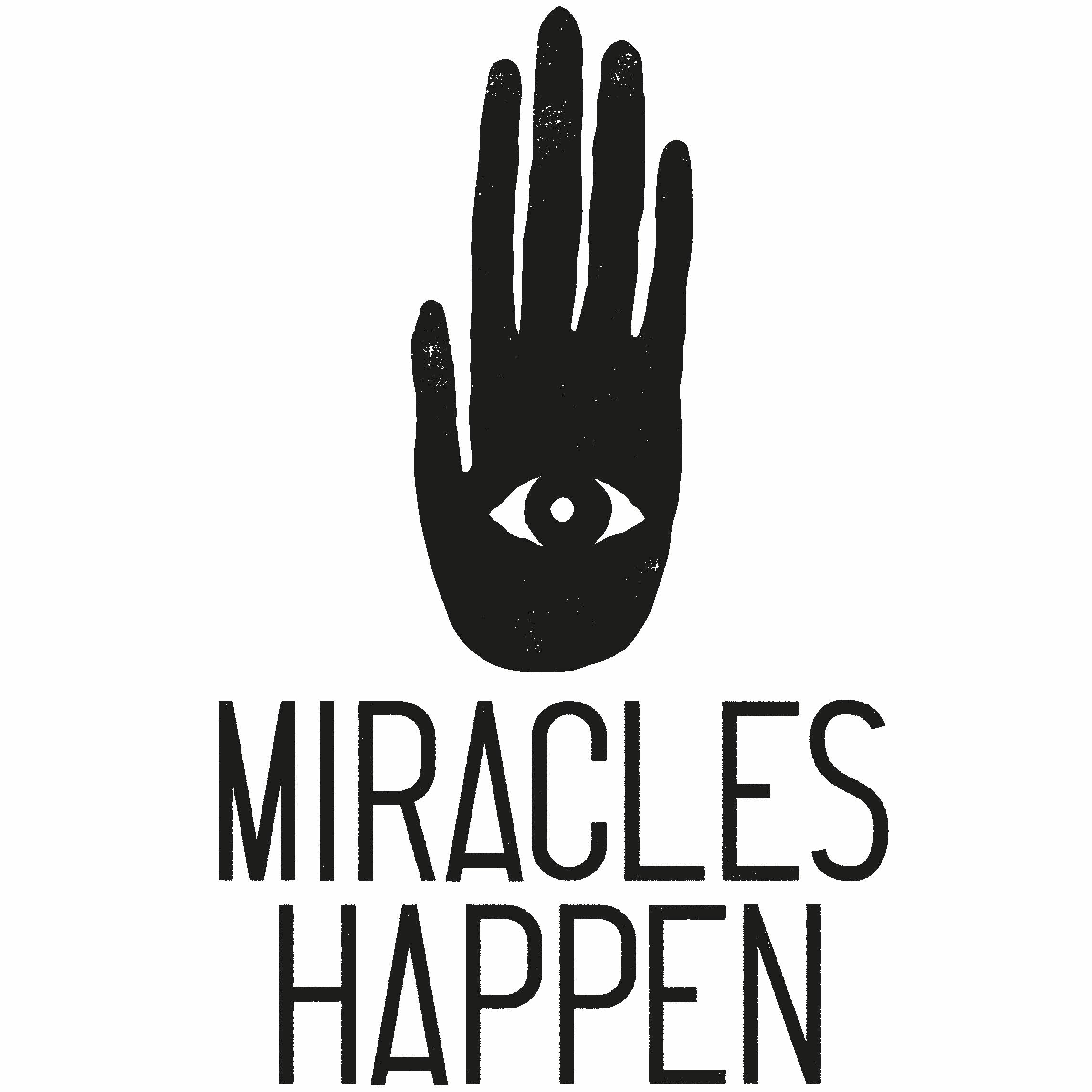 Logo et accroche de la boutique spirituelle en ligne miracles happen